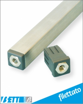 Tappo filettato per  tubo  25x25 Sp.1,2