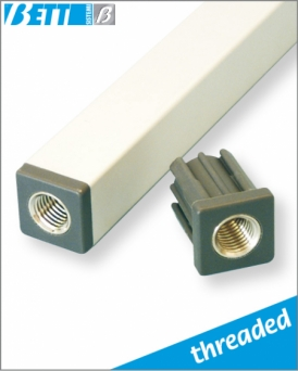 Threaded cap for tube 30x30, thickness 2