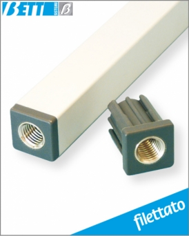 Tappo filettato per  tubo  30x30  Sp.2
