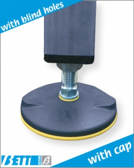 Articulated foot  Ø100  with cap for  50X50 tube, thickness 1.5 or 3