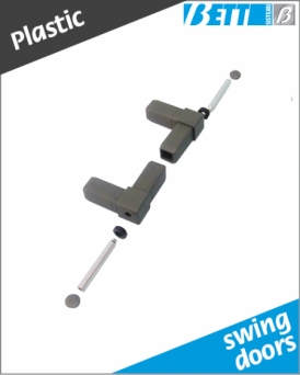 90° hinge kit for swing doors