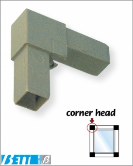 2-way Built-in collars and corner head