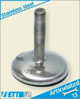 80Ø  stainless steel  articulated foot