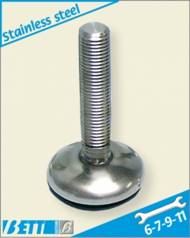 Articulated foot Ø50 in stainless steel