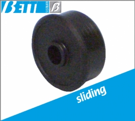 Cap for sliding rollers