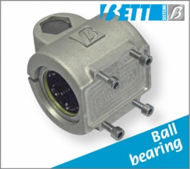 Flange mount with linear bearing