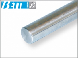 Sliding shaft round,  chrome-plated and ground