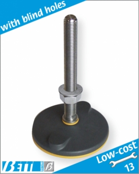 Articulated foot Ø80 low-cost for floor-mounting