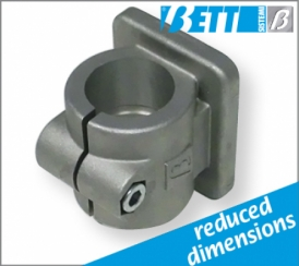 With vertical flange