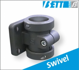 With swivel flange 50mm Ø