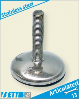 100Ø stainless steel articulated foot