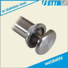 Pin with fastening button weldable