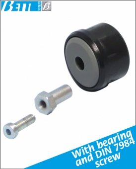 Cap kit for sliding rollers Ø50 1.5 thick