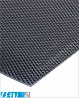 Rubber conveyor belt surface with textured finish