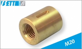 Threaded lead nut for M20 metric screw