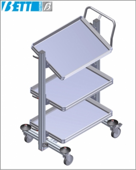 Pallet carrier towable trolley