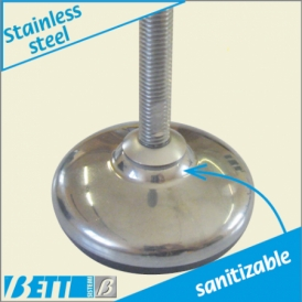 80Ø stainless steel  articulated foot Pharma