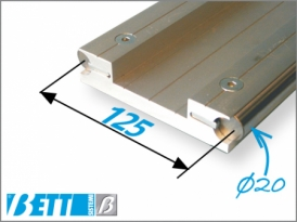 Double guide D12 provision for end-of-travel sensors
